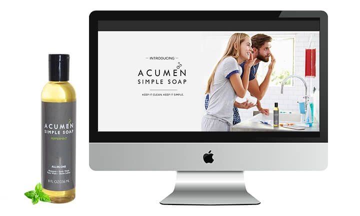 acumen-simple-soap website